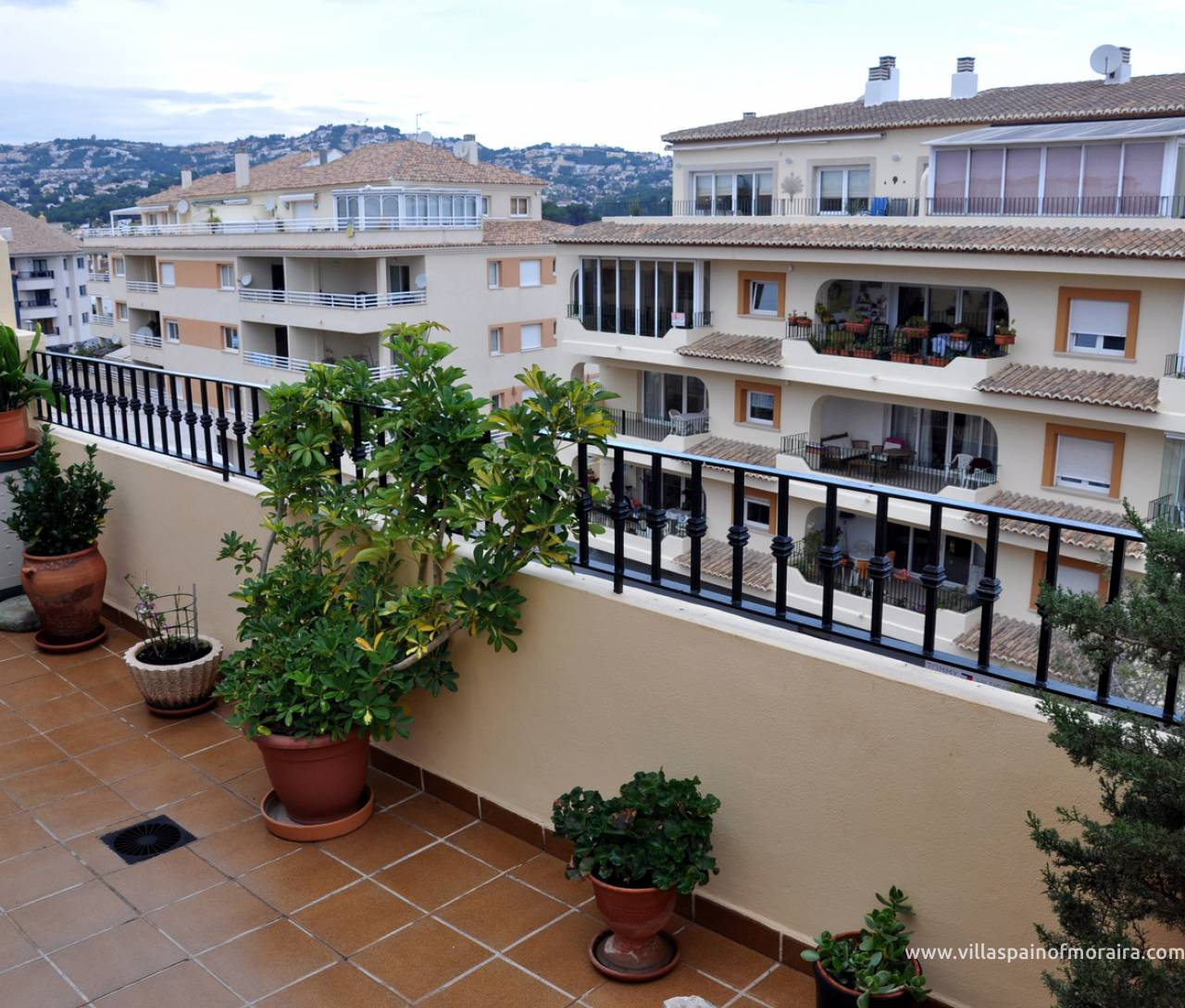 Moraira town penthouse apartment for sale